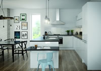 Nova White Contemporary Kitchen