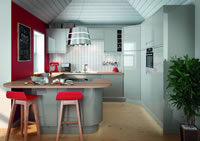 Planar Grey Contemporary Kitchen
