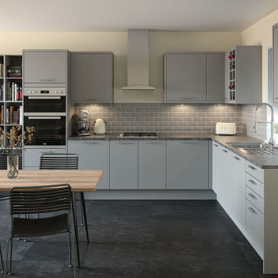 Meteor Light Grey Contemporary Kitchen
