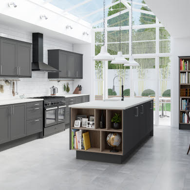 Dunham Grey Traditional Kitchen