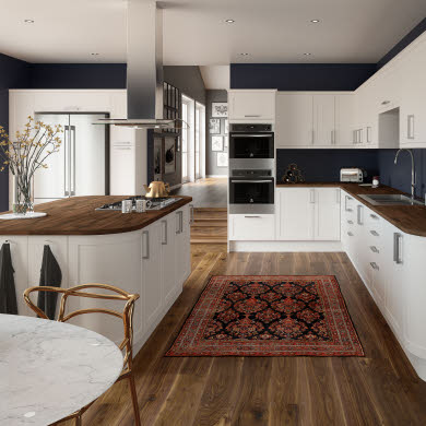Dunham White Traditional Kitchen