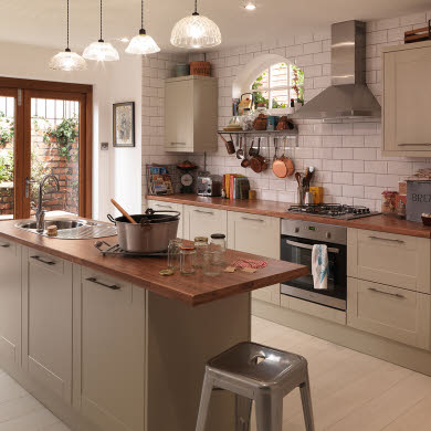 Leighton Grey Traditional Kitchen
