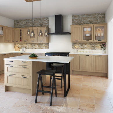 Leyburn Oak Traditional Kitchen