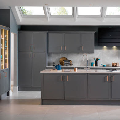 Newbury Grey Traditional Kitchen