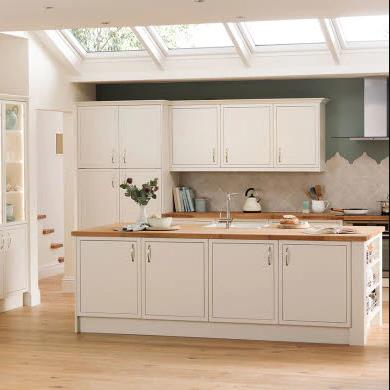 Newbury White Traditional Kitchen
