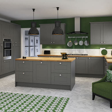 Winchester Grey Traditional Kitchen